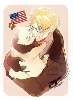SOOOOOOOOOOOOO  CUTE  !!!!!!!!!!!! Alfred Jones, Hetalia Anime, Fanart, Hetalia America, Hetalia Characters, Hetalia Axis Powers, Usuk, My Hero, North America