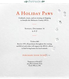 12.06.12 A Holiday Paws: terrain and DELCO SPCA event.