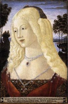 "Lady ""1480's"" (Neroccio de'Landi) (1445-1500) National Gallery of Art, D.C. BLONDE!!!!"