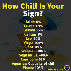 Haha! Yes! #Aquarius  has so little chill! #pisces is the definition of chill
