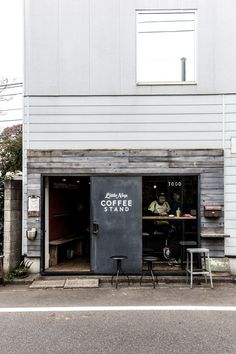 tokyo - Coffee Set - Ideas of Coffee Set - The Little Nap Coffee Stand the tiniest cafe I have ever set foot in with excellent coffee Small Coffee Shop, Coffee Store, Coffee Shop Design, Cafe Design, Hipster Coffee Shop, Hipster Chic, Coffee Set, Restaurant Design, Restaurant Bar