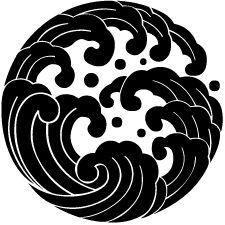 japanese tattoos symbols and meaning Japanese Patterns, Japanese Design, Japanese Art, Japanese Prints, Blackwork, Japanese Family Crest, Japanese Waves, Japanese Sleeve Tattoos, Logo Design