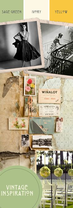 sage green and yellow wedding - Google Search