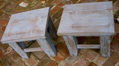 Wood Side Table Shabby  Handmade End Table by honeystreasures