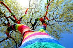 Yarn bombing! #StreetArt