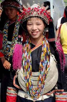 CHINA - The Bunu, a sub-group of the Yao minority in Bama county, Guangxi Province held celebrations to welcome the Zhuzhu Festival. Bunu Yao people. Yao nationality style colthes show.