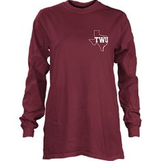 Product: Texas Woman's University  Women's Athletic Fit Long Sleeve T-Shirt