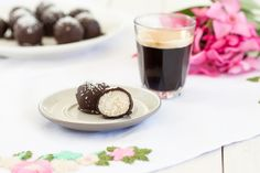 Rum coconut truffles are a beautiful treat that goes nicely with your afternoon coffee or tea. They only use 4 ingredients, no processed sugar or oil.