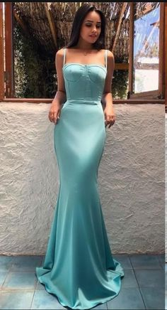 Arabic Style Mermaid Evening Dresses Trumpet Spaghetti Straps