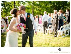 Outdoor fuchsia and orange summer winery wedding at Lost Creek Winery in Leesburg Virginia