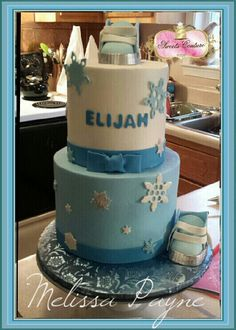 Attractive Winter Wonderland Baby Shower Cake