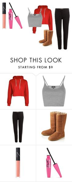 """LAZY"" by air-bear-disigns ❤ liked on Polyvore featuring Topshop, Etro, UGG Australia and NARS Cosmetics"
