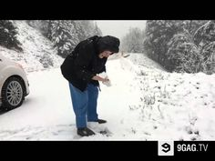 This 101-Year-Old Lady Proves You Are Never Too Old To Throw A Snowball - 9GAG.tv