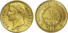 NumisBids: Numismatica Varesi s.a.s. Auction 65, Lot 725 : NAPOLEONE I (1804-1814) 20 Franchi 1807 A (Parigi) Kr. 695.1 ...