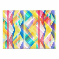 KESS InHouse Miranda Mol 'Triangle Rhythm' Pastel Geometric Dog Place Mat, 13' x 18' *** Hurry! Check out this great product : Dog food container