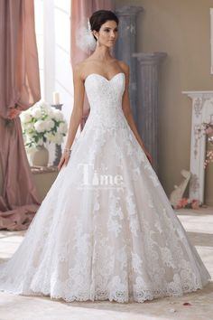 Modest Sweetheart Ball Gown Appliques Beading Wedding Dresses/Bridal Gowns WD148223