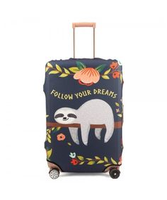 Madifennina Spandex Travel Luggage Protector Suitcase Cover Fit Inch Luggage (sloth, L) Source by bags Cute Baby Sloths, Cute Sloth, Travel Luggage, Luggage Cover, Travel Backpack, Nerd Geek, Spirit Animal, Cute Babies, Cute Animals