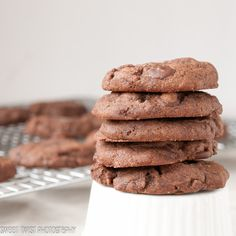 Soft Chocolate Gingerbread Cookies