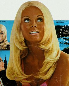 too blonde hair with too dark tan  1970 by MewDeep, via Flickr