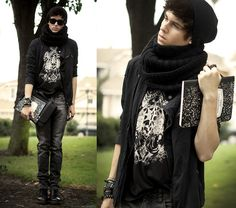 The mysterious  (by Adam Gallagher) http://lookbook.nu/look/2493285-The-mysterious