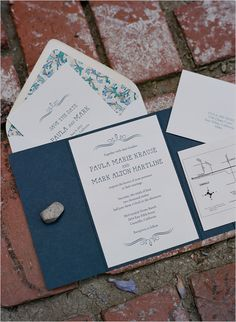 navy blue wedding invites