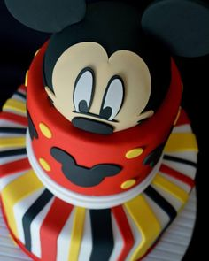 Mickey Mouse Themed Cake #allysweetcreations #mickeymouse... Baby Mickey Cake, Mickey Mouse Bday, Mickey Cakes, Mickey Mouse Clubhouse Birthday, Minnie Mouse Cake, Mickey Mouse Birthday, Cute Cakes, Themed Cakes, Little Girls