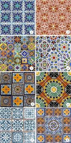 Colorful Moroccan Tiles // Bubby and Bean