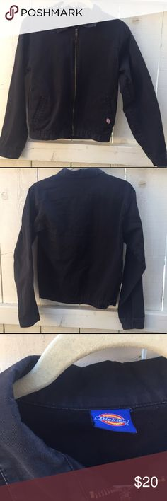 Dickies Eisenhower Jacket Dark blue Eisenhower work jacket. Good condition, water resistant. Great light jacket to throw on over cute blouses for breezy nights. Size S/M. Dickies Jackets & Coats Utility Jackets