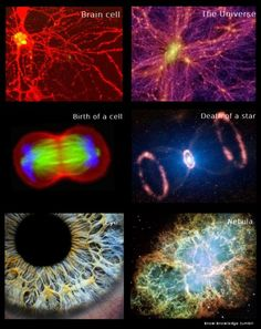 Human-Universe Comparison.  What if the universe is a metaphor for God and we are created in its image? So beautiful!
