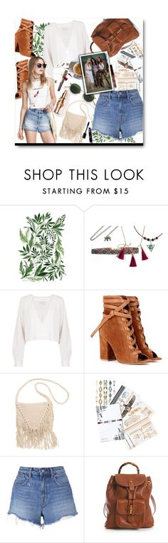 """""""Coachella 2016"""" by voguefashion101 ❤ liked on Polyvore featuring Acne Studios, Stone_Cold_Fox, Gianvito Rossi, H&M, Billabong, Flash Tattoos, T By Alexander Wang and Gucci"""