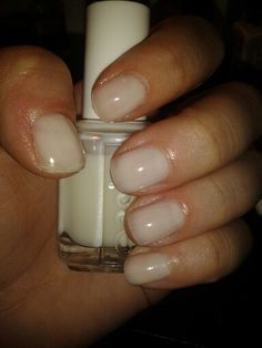 """Essie Allure- 3 coats. A beautiful, natural, milky-nude for the """"my nails, but better"""" look."""