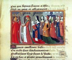 Good color use in dresses    Baptism of Charles VII by anonymous, 15th century France