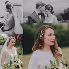 I am so in love with these images by @torihancock of beautiful bride Naomi wearing a bespoke headpiece called Astrid which I loved so much I added it to this year's collection! She wears beautiful @delphinemanivet separates and a Juliet cap veil with her