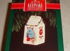 "1992 HALLMARK KEEPSAKE ""EGG NOG NEST"" BLUEBIRD CHRISTMAS ORNAMENT NIB MINT"