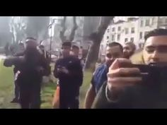 """MUST WATCH: Muslim Immigrants Gang in London: """"This is OUR Country Now, GET OUT!"""" - That's what America is going to face if hillary clinton is elected--PLEASE, America, VOTE TRUMP!!!"""