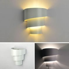 Wohnzimmerlampe Flur LED Wandleuchte 1flammig mit Schalter Glaskugel Dekor weiß