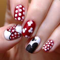 Mickie and Minnie nails
