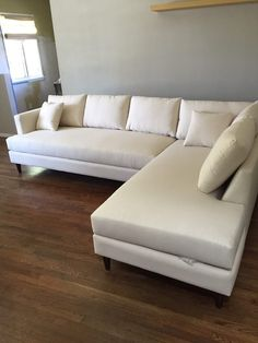 Photo Of Sofa Club Los Angeles Ca United States Ivory Sectional Delivered