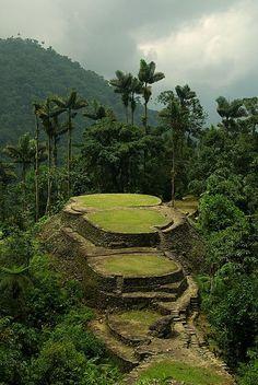 Ciudad Perdida or Lost City Teyuna, in the jungle of northern Colombia's Santa Marta Sierra Nevada mountain range- Visitable