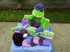 Knit hats for Click for Babies charity.