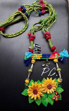 Crochet Jewellery, Wire Jewellery, Clay Jewelry, Jewelry Crafts, Jewelery, Handmade Jewelry Designs, Handmade Jewellery, Handcrafted Jewelry, Navratri Dress