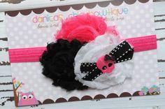 Triple shabby skull headband newborn by DanicasChicBowtique, $11.00