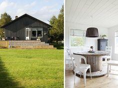 Vibeke et Bernt habitent dans le centre de la Norvège àTrondheim, et ont repris la vieille ferme des parents de Vibeke. Elle l'a repeint entièrement en blanc à l'intérieur pour y appor…