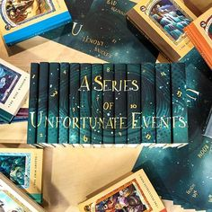 A Series of Unforunate Events custom jackets by Juniper Books