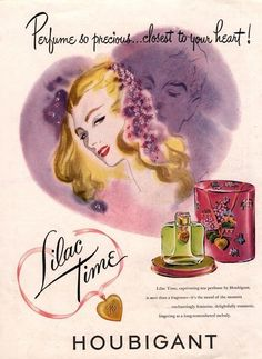 Usa Houbigant Lilac Time Art Print by The Advertising Archives Vintage Advertisements, Vintage Ads, Vintage Prints, Vintage Posters, Vintage Stuff, Vintage Makeup, Vintage Beauty, Vintage Fashion, Advertising Archives