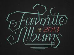Favorite Albums of 2013