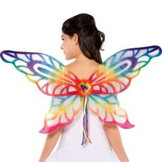 Rainbow Bright Color | Rainbow Glitter Wings - Party City