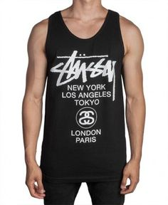 Stussy - World Tour Tank Top - $22