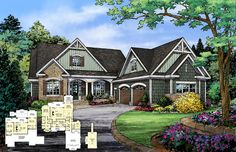 NEW plan - Now Available! The Mosscliff - Plan 1338. This hillside walkout design features a large utility room, walk-in pantry, and plenty of storage. http://www.dongardner.com/plan_details.aspx?pid=4616. #NewPlan #HillsideWalkout #Home