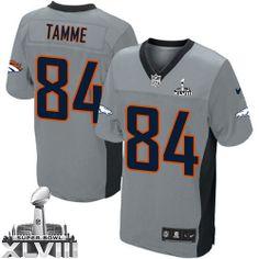 Jacob Tamme Elite Jersey-80%OFF Nike Jacob Tamme Elite Jersey at Broncos Shop. (Elite Nike Men's Jacob Tamme Grey Shadow Super Bowl XLVIII Jersey) Denver Broncos #84 NFL Easy Returns.
